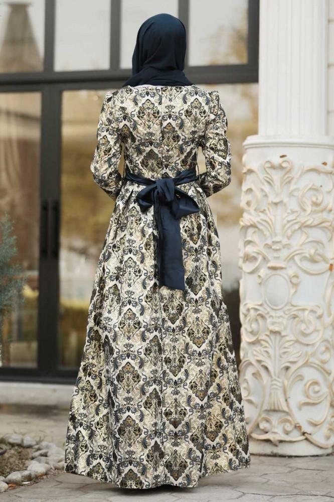 فستان سهرة جاكوارد مزخرف نسائي