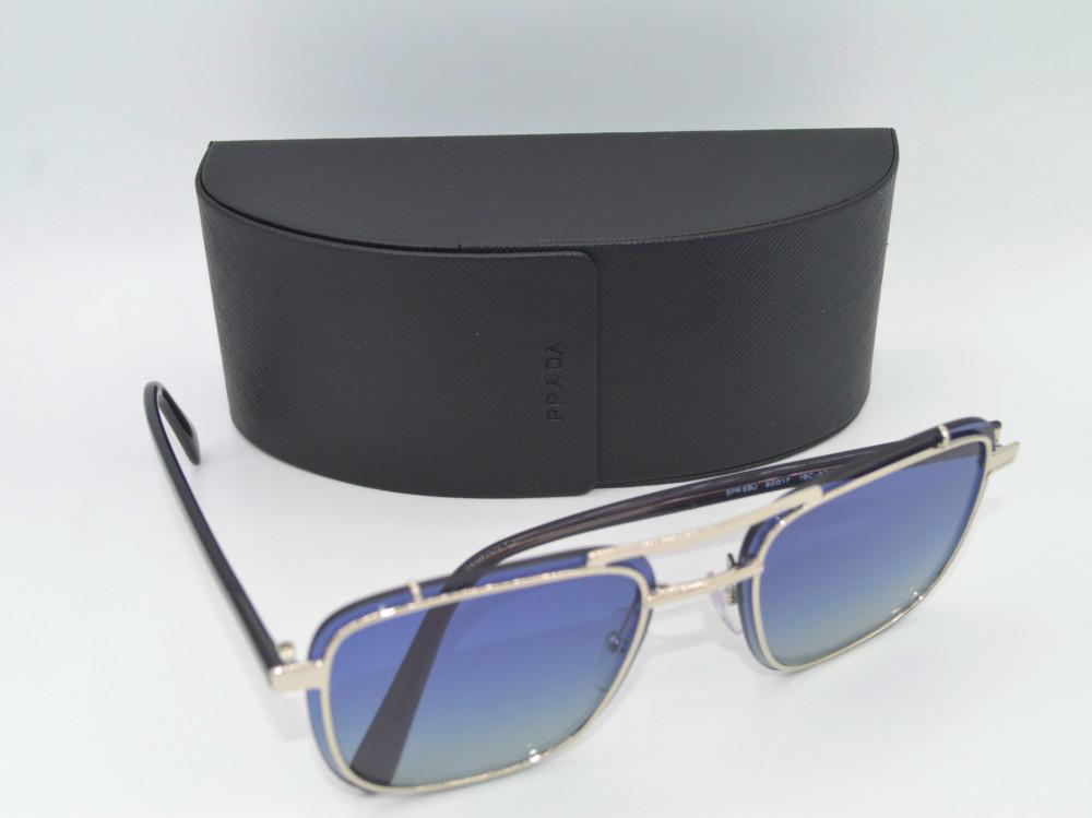برادا PRADA نظارة شمسية نسائية لون العدسة ازرق مدرج