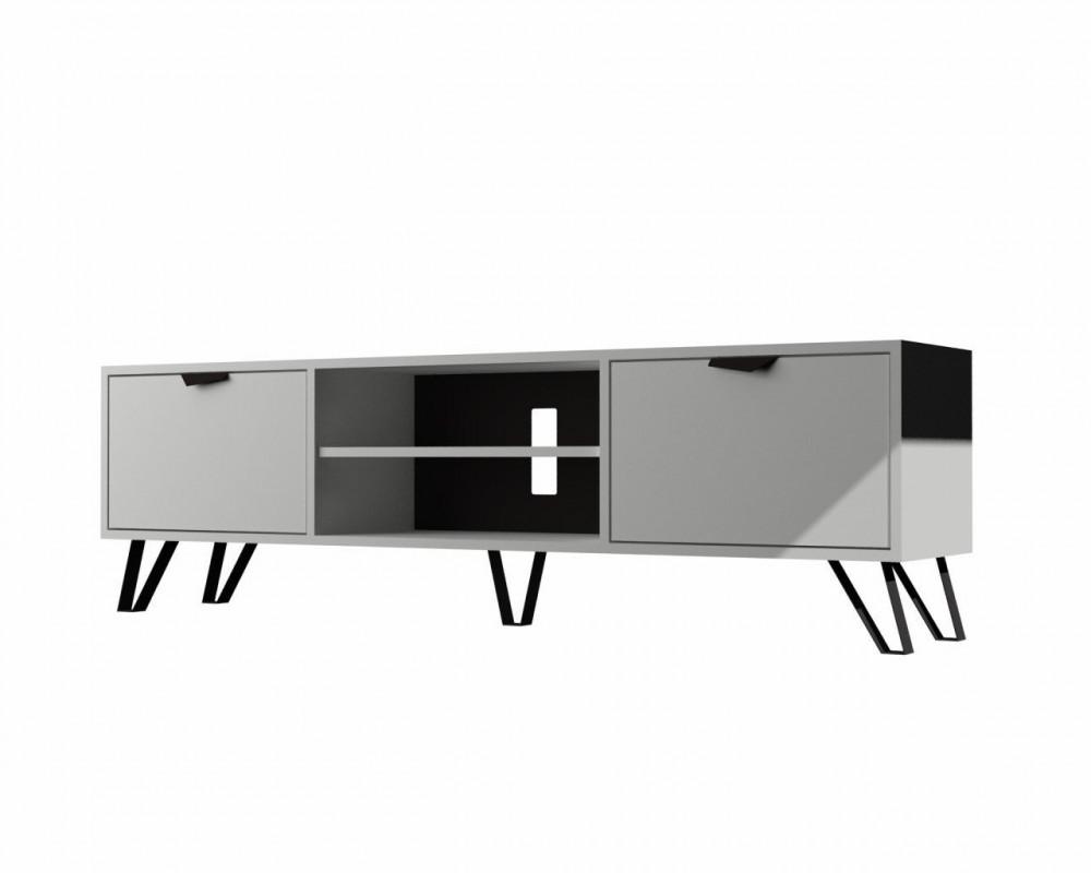 مواسم طاولة تلفاز أنيقة متعددة الاستخدام بوحدتين لتخزين متعلقاتك