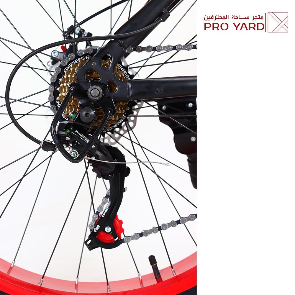دراجة هوائية هجين جبلي دراجة الطرق الرملية - برو يارد لون أحمر