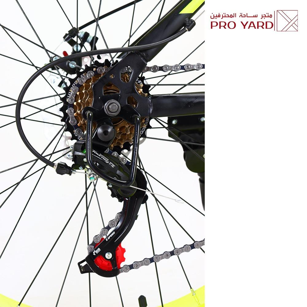 دراجة جبلي 26 بوصة اصفر قير شيمانو أصلي - 13 هدية مجانية  - سيكل جبلي
