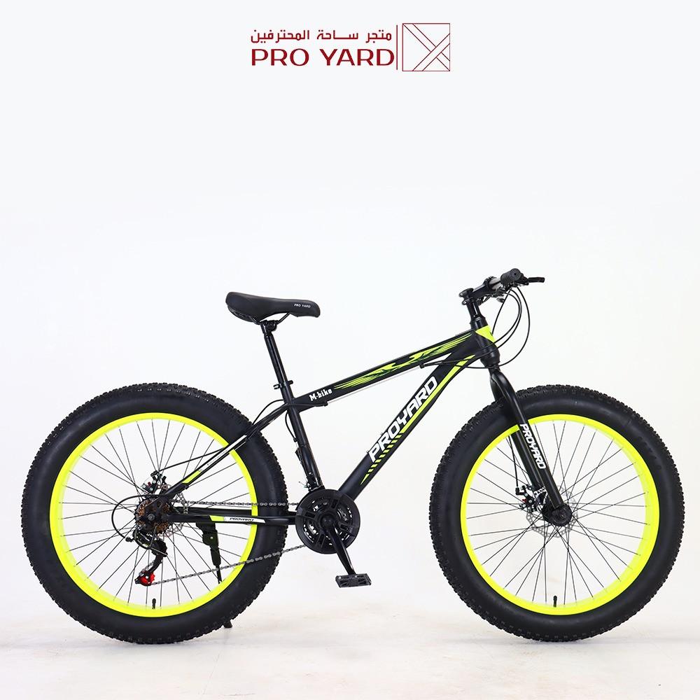 دراجة جبلي 26 بوصة اصفر قير شيمانو أصلي