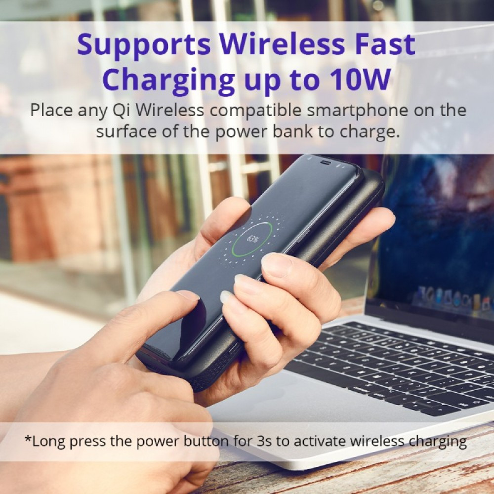 Tronsmart WP01 AirAmp 8000mAh Hybrid Wireless Charging Power Bank