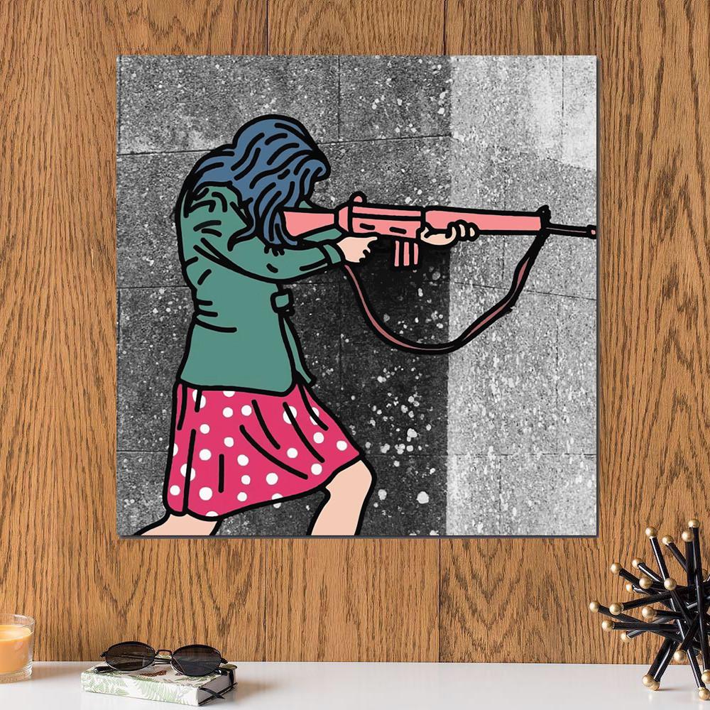 لوحة الفناة الفلسطينية خشب ام دي اف مقاس 30x30 سنتيمتر