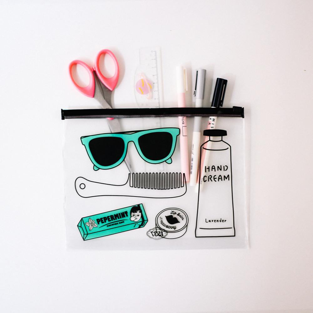مقلمات مقلمة شفافة أدوات مدرسية أدوات مكتبية مقلمة أقلام PVC