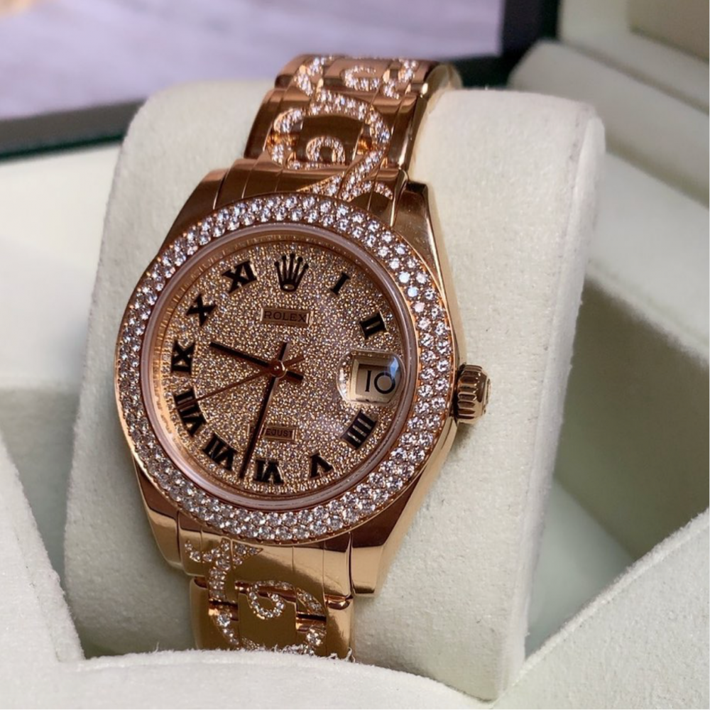 price Rolex Masterpiece Midsize Gold and Diamond Watch 81338