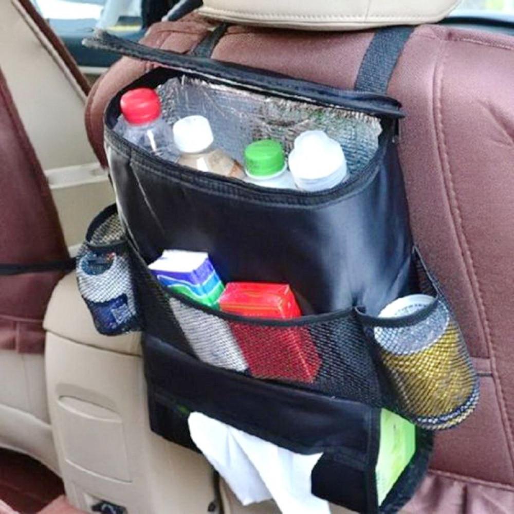 حقيبة حافظة برودة المشروبات من الألومنيوم تعلق خلف المقعد