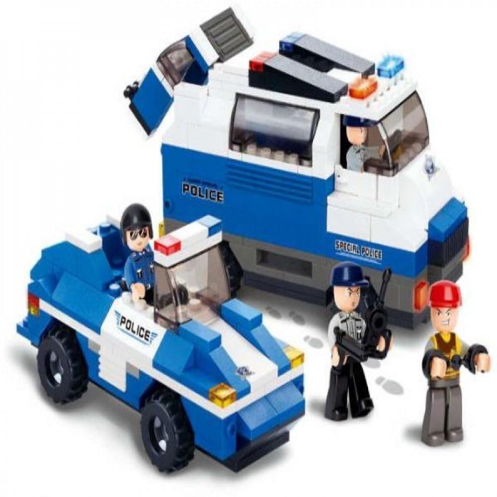 سلوبان, قطع تركيب, سيارات شرطة ,ألعاب, Sluban, Toys,