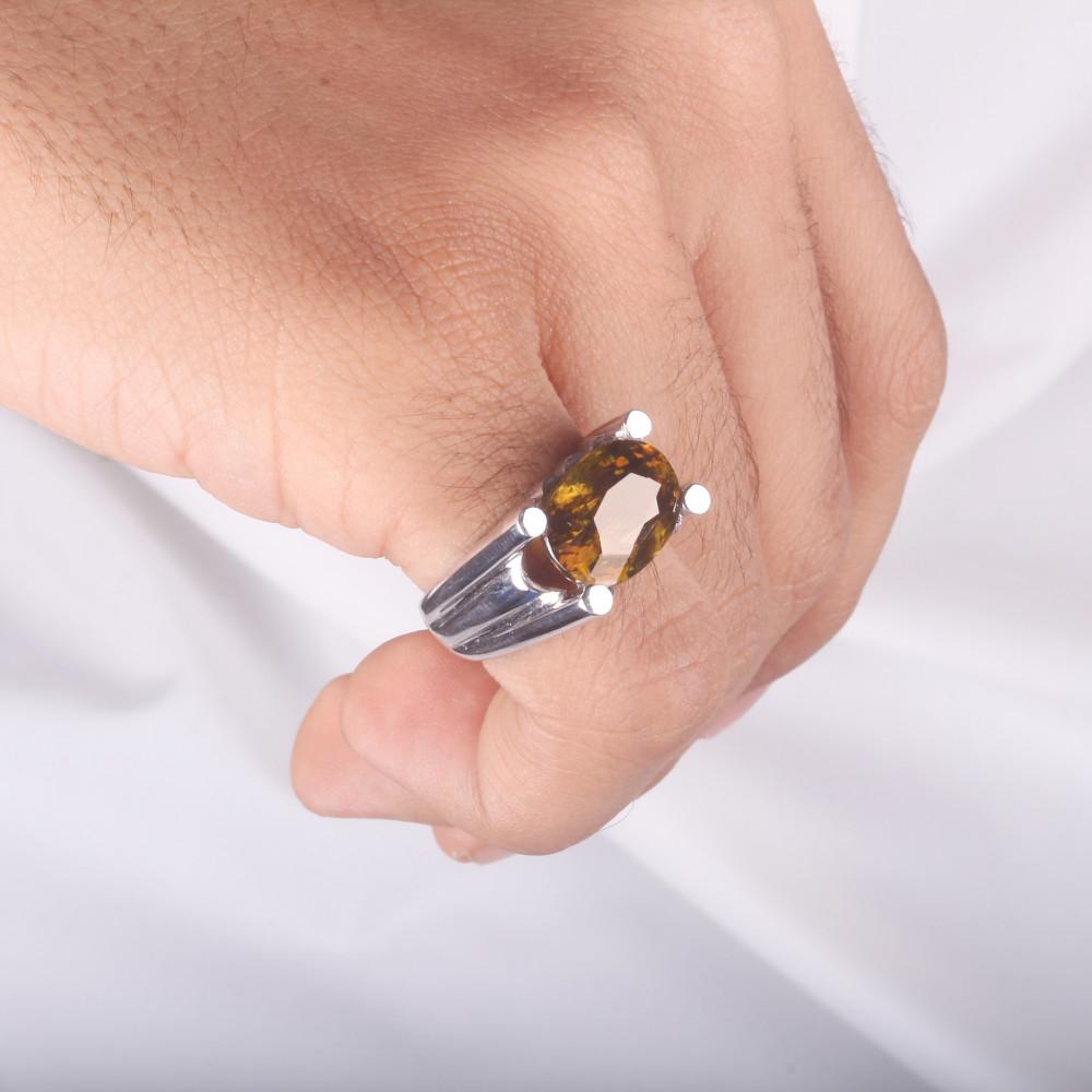 خاتم من حجر السفين الطبيعي