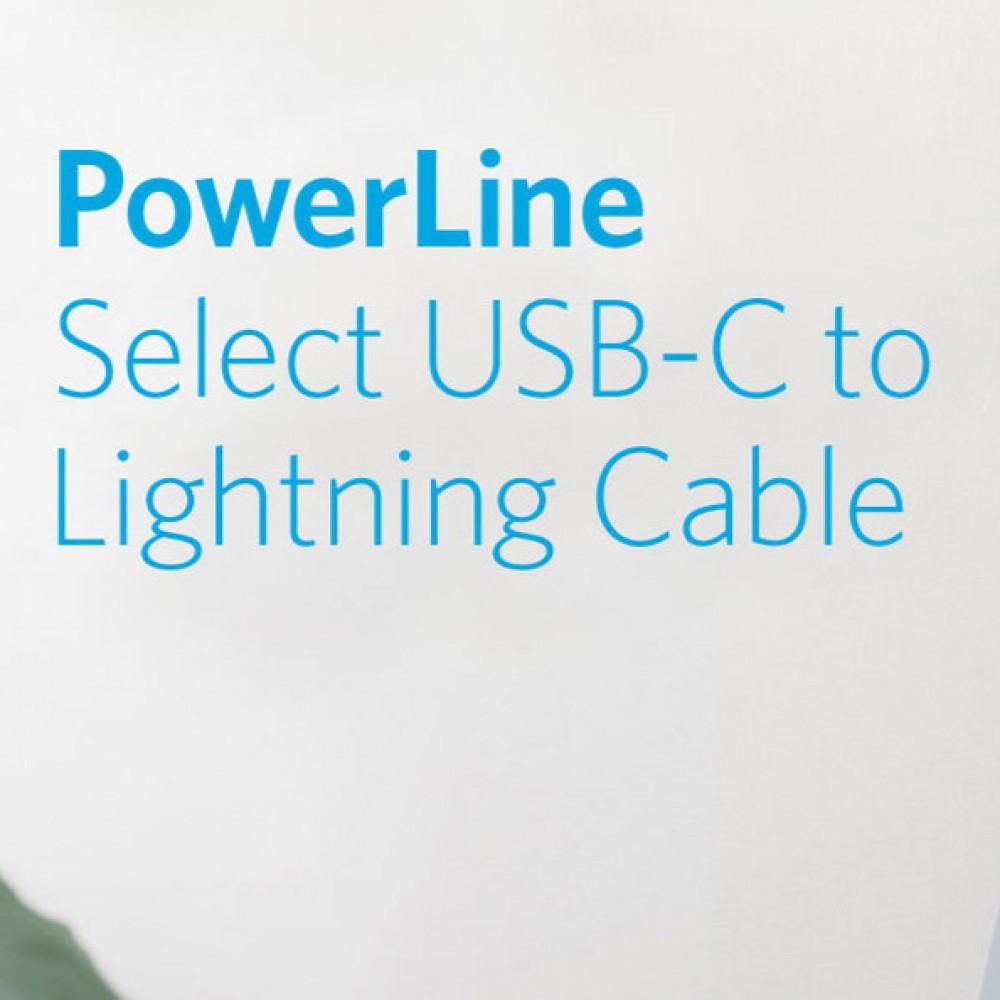 كيبل شاحن وناقل بيانات عالي الجودة من انكر USB-C to Lightning 09m