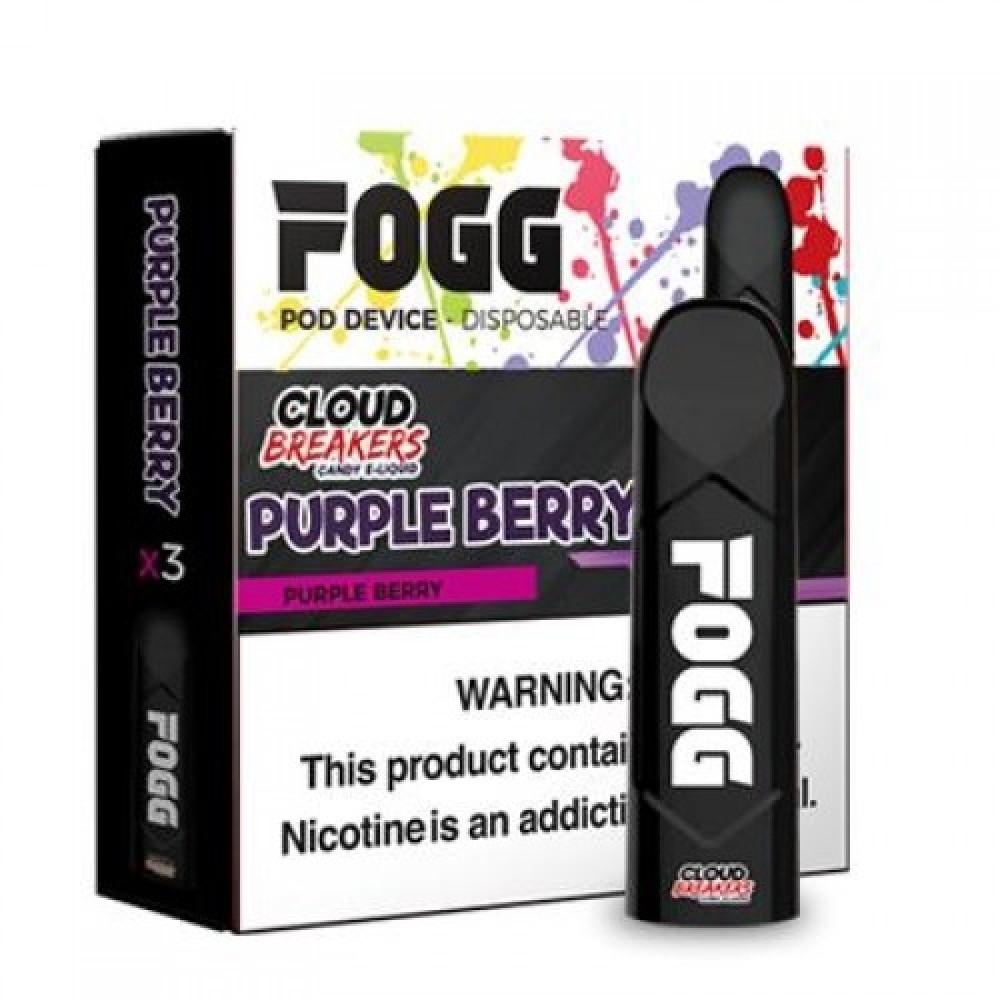 سحبة سيجارة فوج كلاود بريكرز - FOGG PURPLE BERRY SaltNic Pod-pack of 3