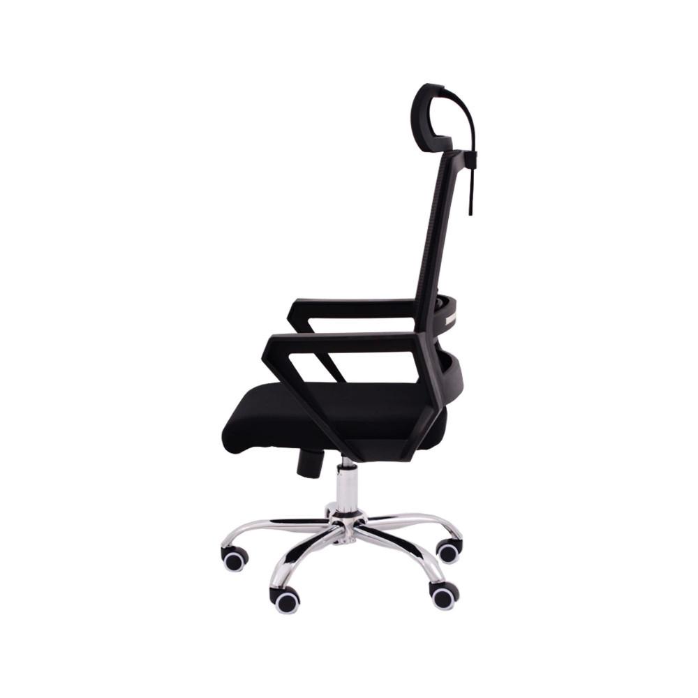كرسي كاما شبك متحرك اسود ظهر طويل ck105d