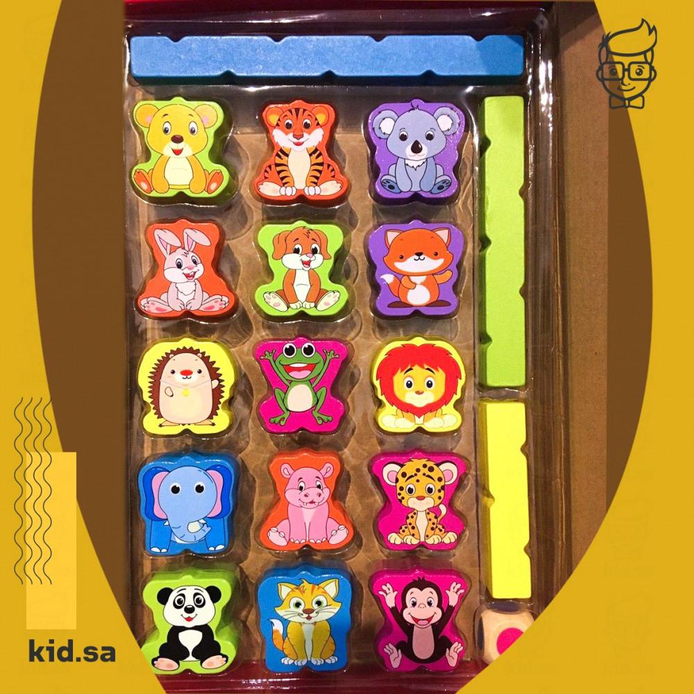 لعبة حيوانات خشبية جميلة للاطفال الصغار