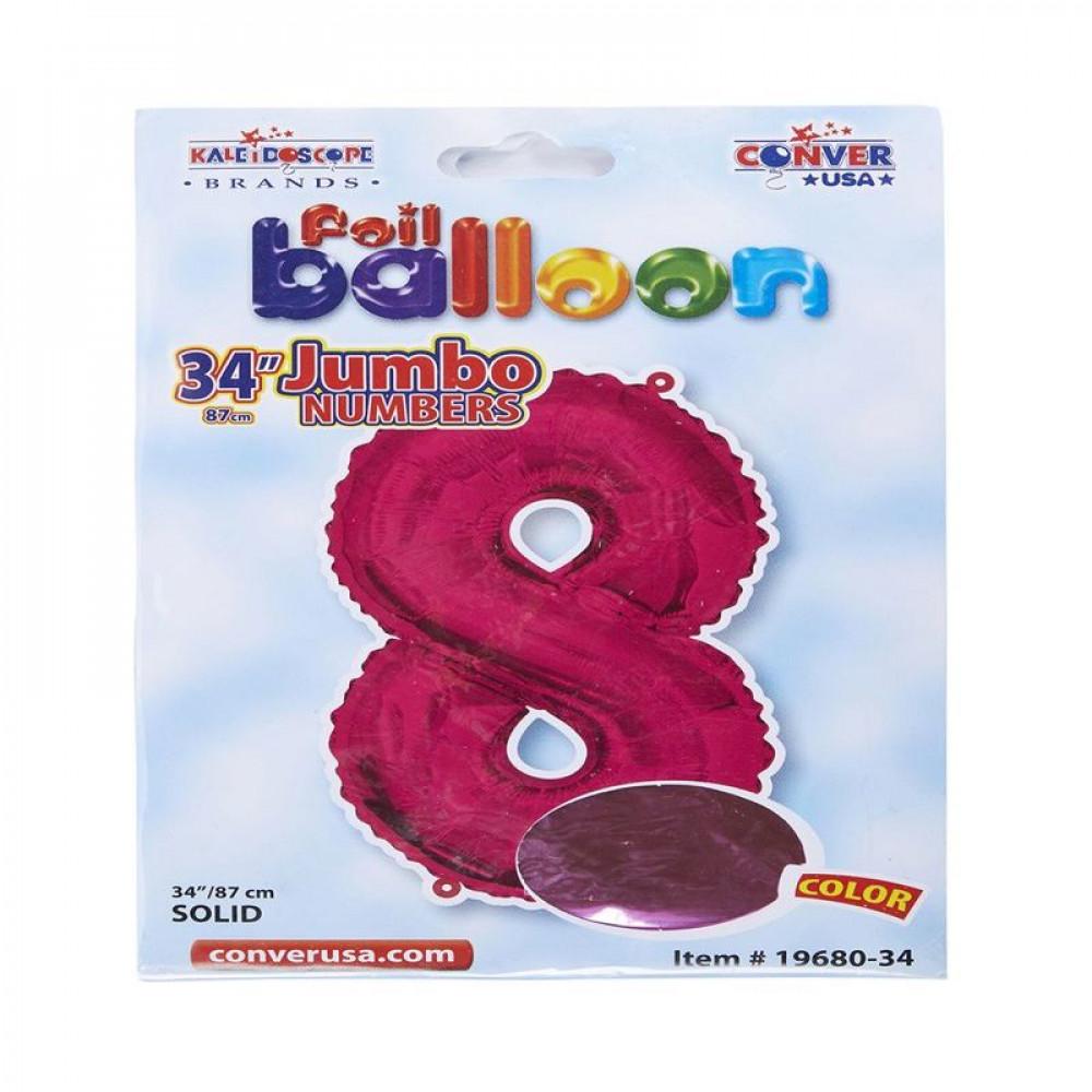 بالون وردي, بالون رقم 8, Pink Balloon, بلونات أرقام زهرية