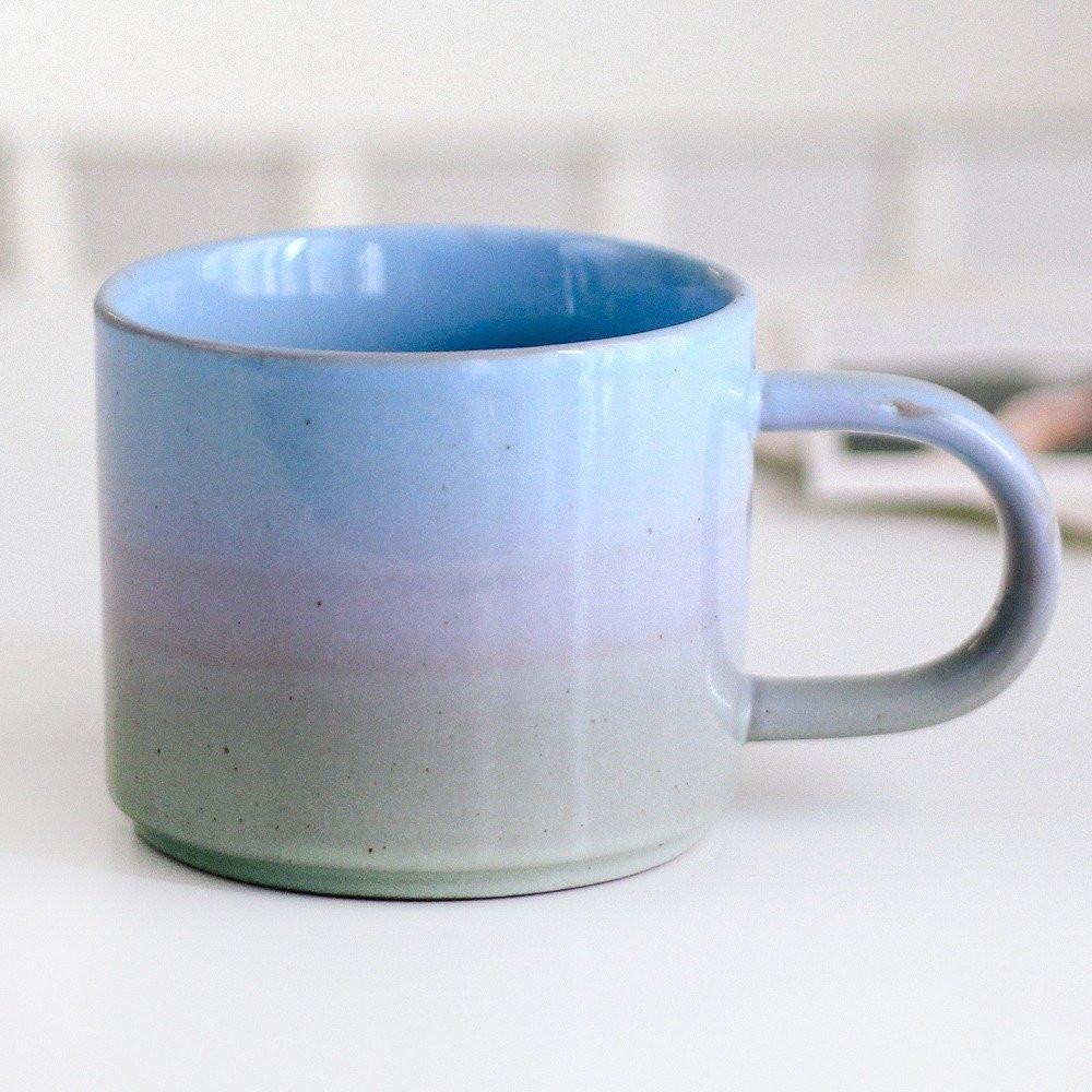 كوب قهوة كوب لاتيه أكواب قهوة أدوات ركن القهوة لون موف أزرق تايبو متجر