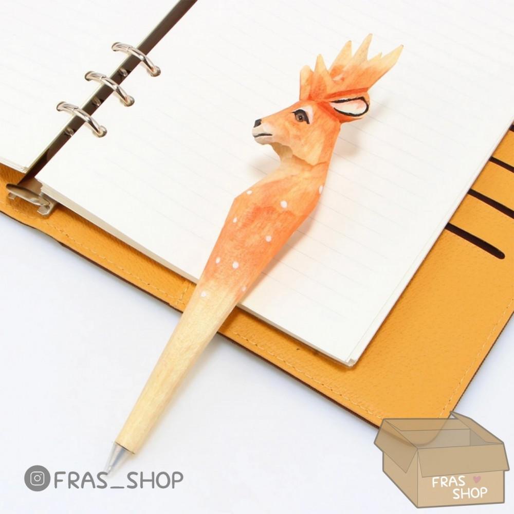 قلم الغزال نحت يدوي