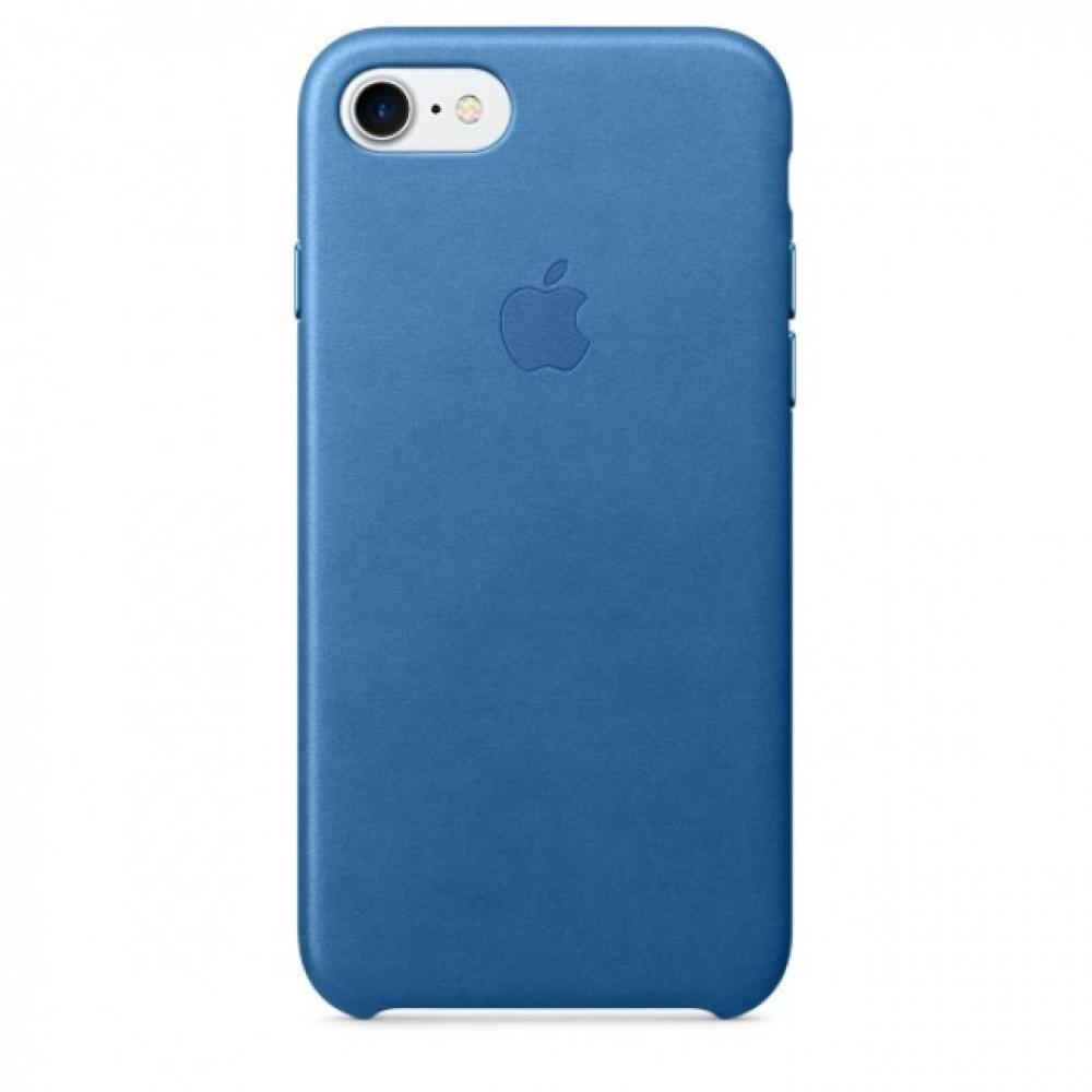 كفر ايفون 7 جلد أزرق