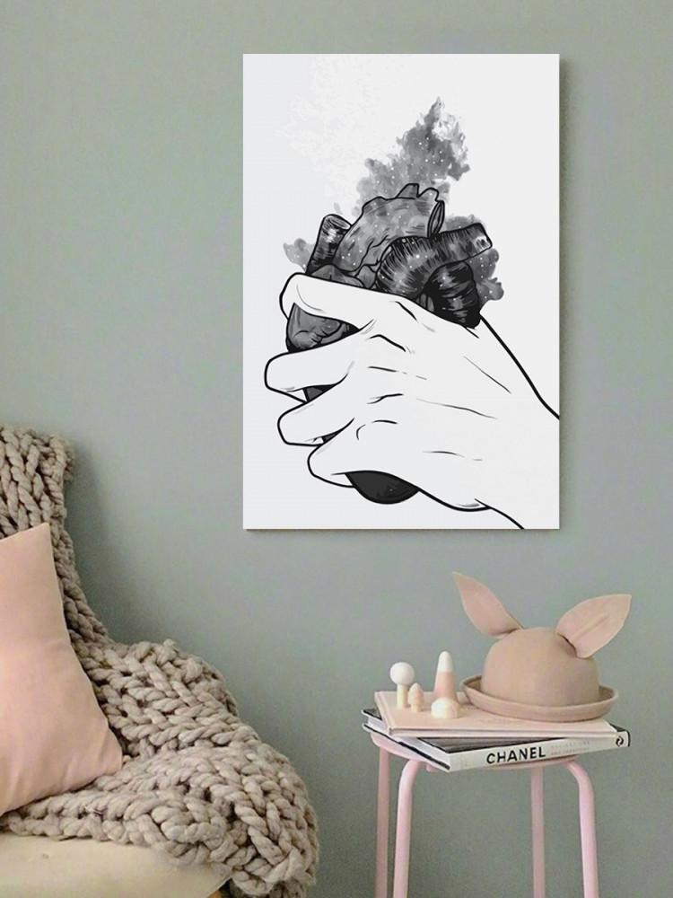 لوحة امسك قلبك خشب ام دي اف مقاس 40x60 سنتيمتر
