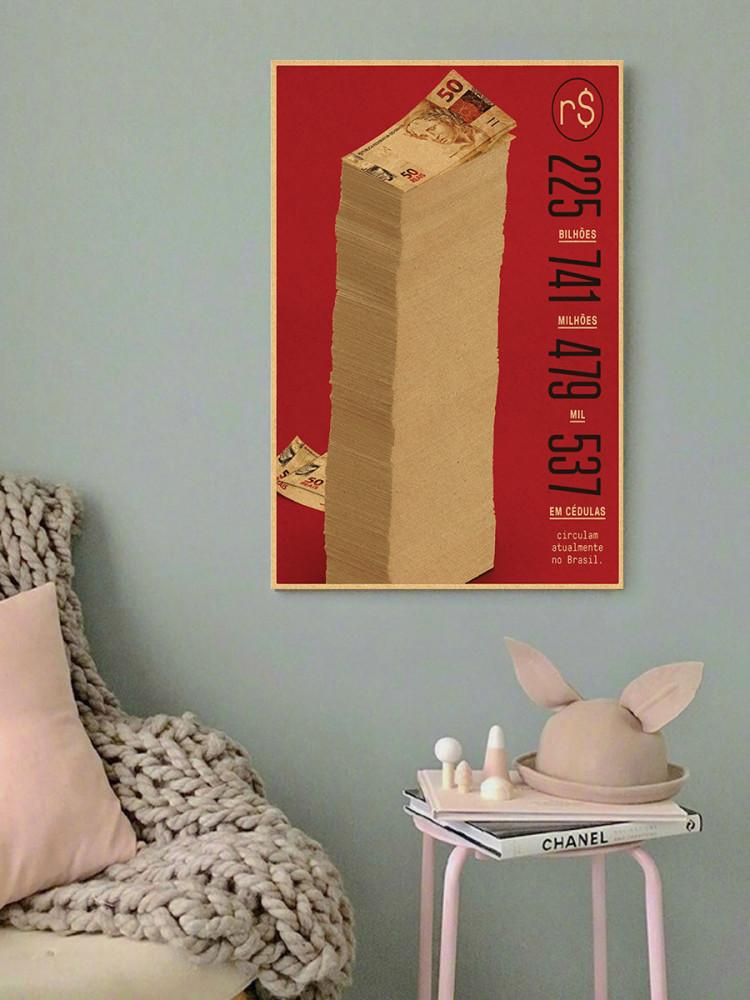 لوحة لا كاسا دي بابل موني هيست خشب ام دي اف مقاس 40x60 سنتيمتر