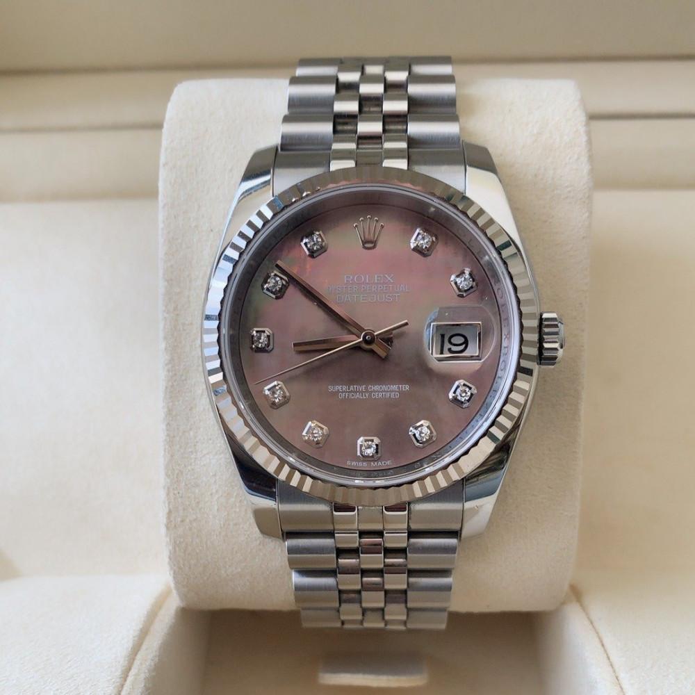 ساعة رولكس ديت جست الأصلية الثمينة مستخدمة 116234