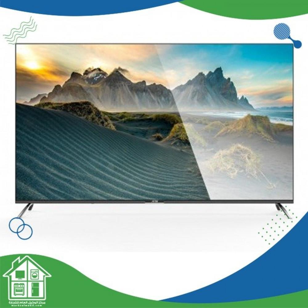 أركو 65 بوصة LED 4K UHD HDR تلفزيون ذكي تصميم بدون إطار RO-65LCS