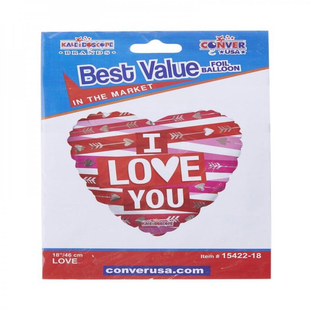 I love you balloon, Heart balloon, بالون احبك ,بالون شكل قلب