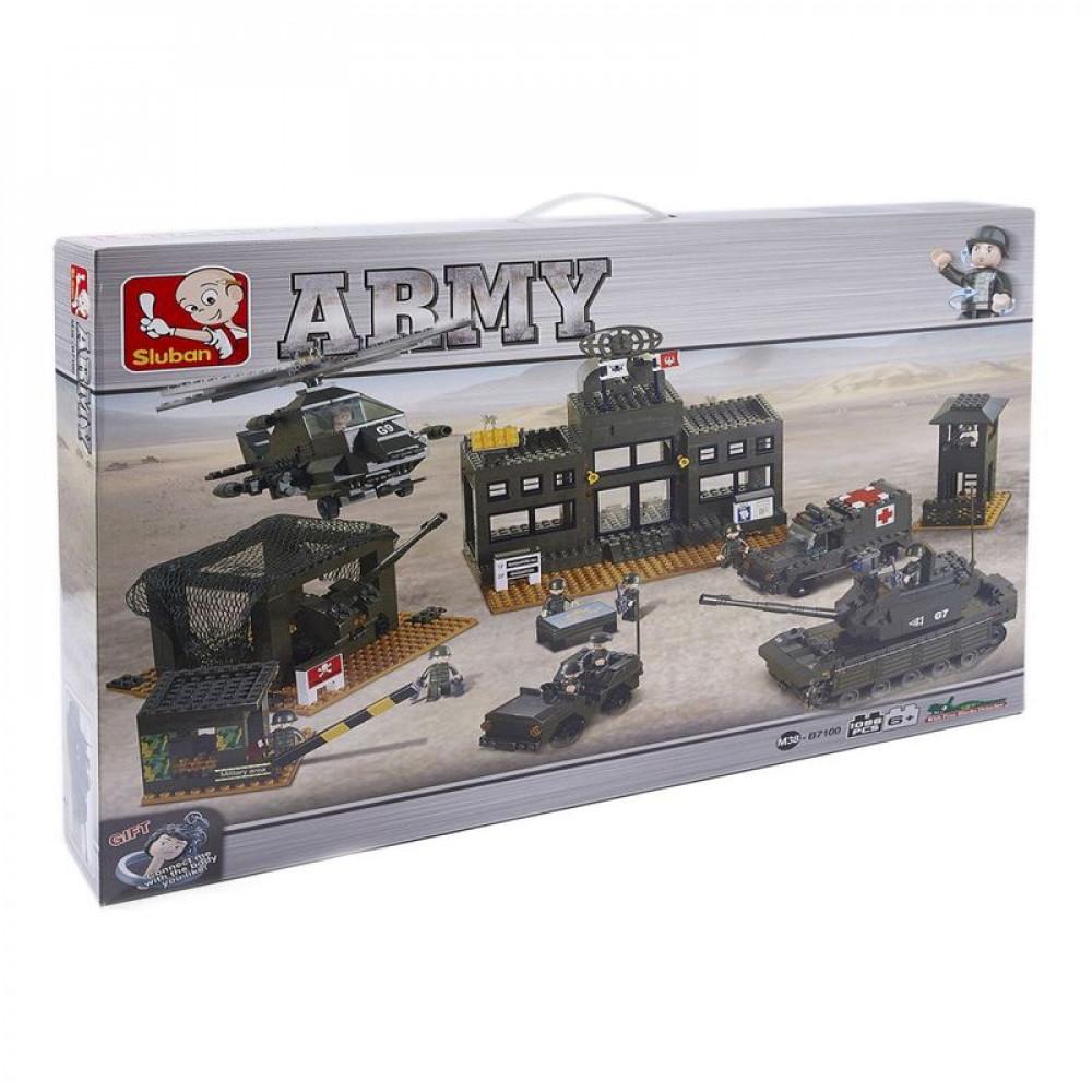 سلوبان, قطع تركيب, مقر قوات الجيش, Toys, Sluban, ألعاب