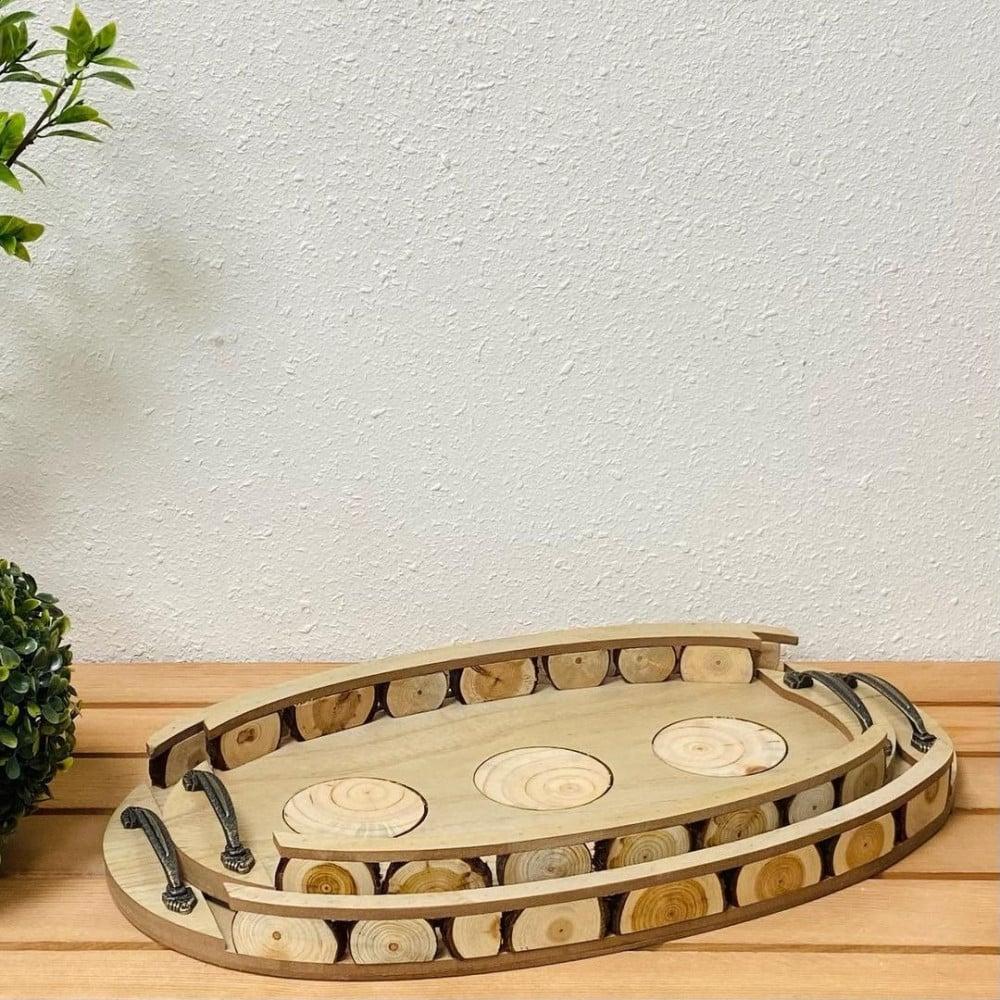 طقم صواني تقديم خشب ديكورات المنزل صواني تقديم خشب ديكورات المطبخ