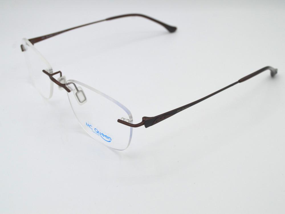 نظارة طبية بدون اطار من ماركة MC QUEEN لون الذراع بني