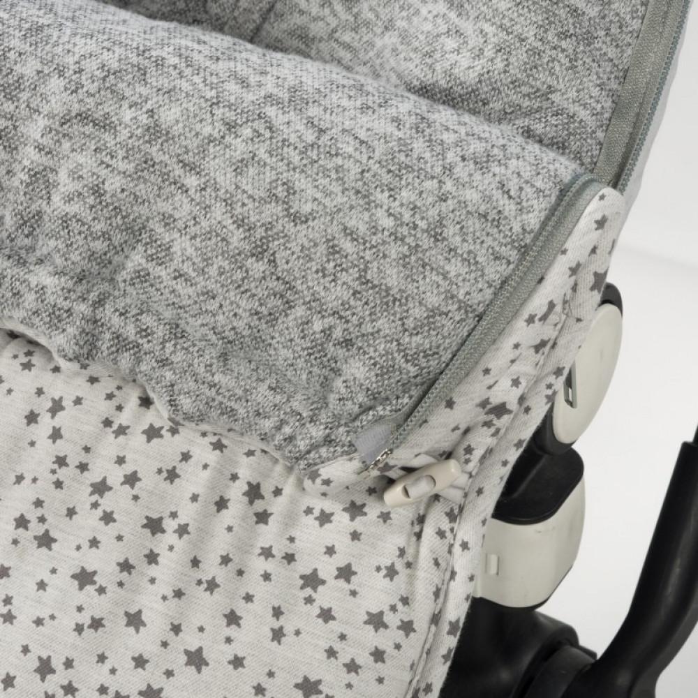 غطاء واقي من البرد لحديثي الولادة باللون الرمادي من ماركة دوها
