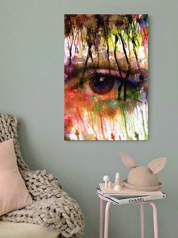 لوحة العين خشب ام دي اف مقاس 40x60 سنتيمتر