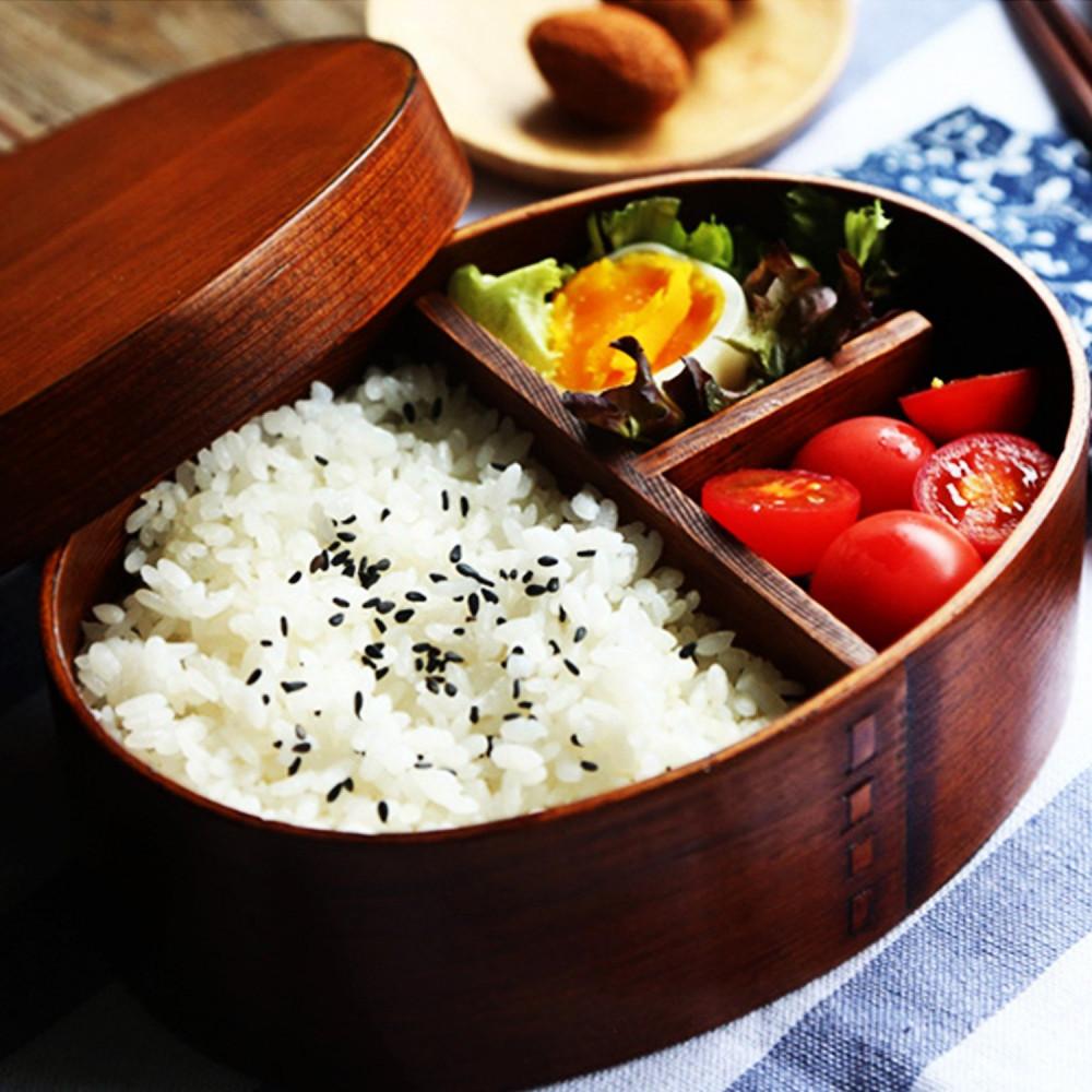 تسوق لانش بوكس خشب بينتو يابان صندوق غداء خشب سوشي أرز حافظة طعام متجر