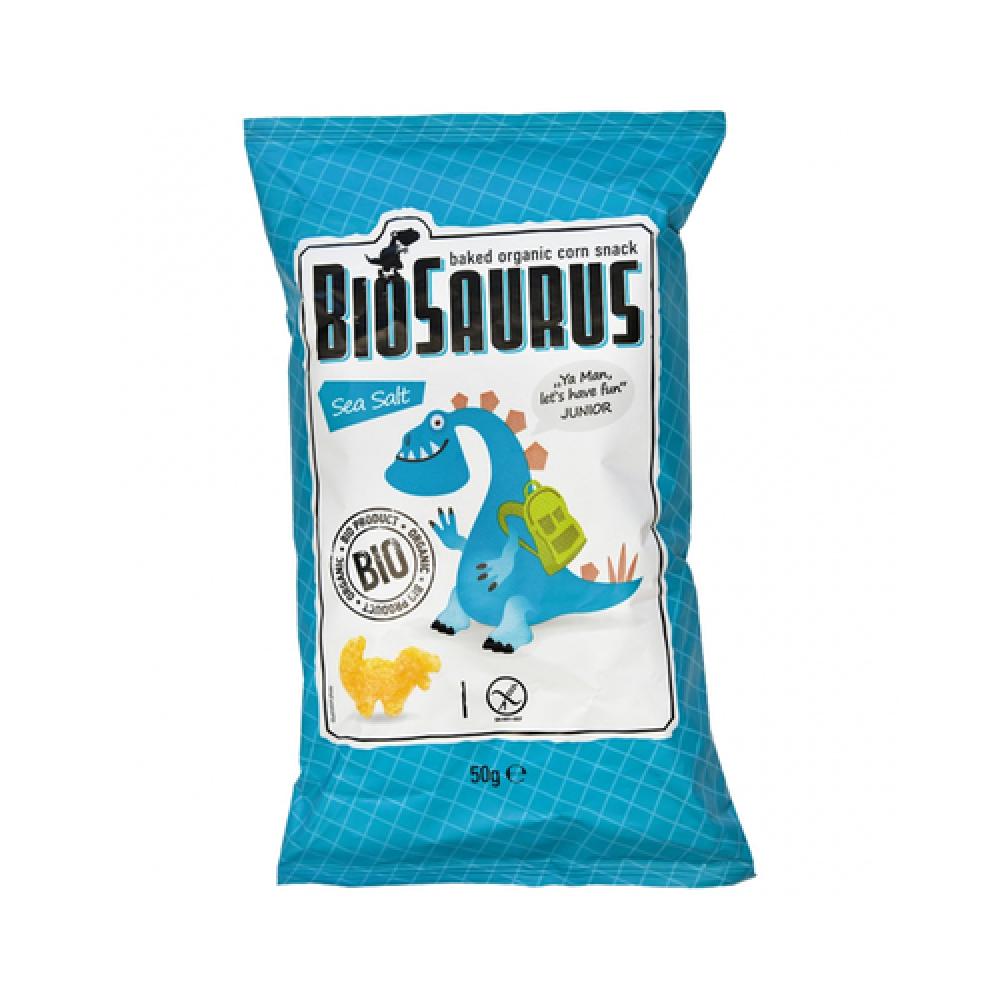 سناك الذرة العضوي المحمص بالملح البحري 50 جرام