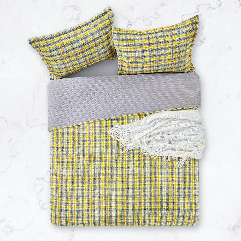 غطاء سرير صيفي Pamela مشجر - مزدوج - 4 قطع