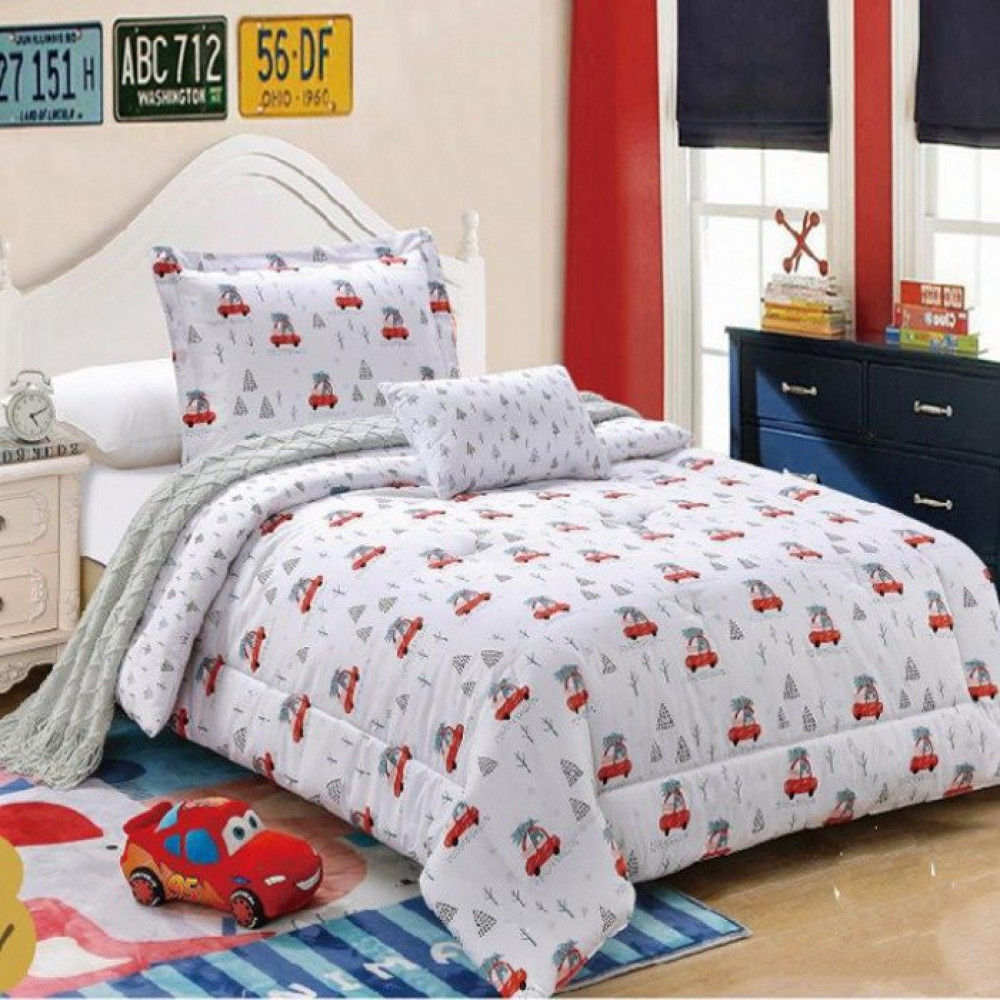 مفرش غرف نوم يناسب طفلك لون أبيض تصميم غرفة نومه