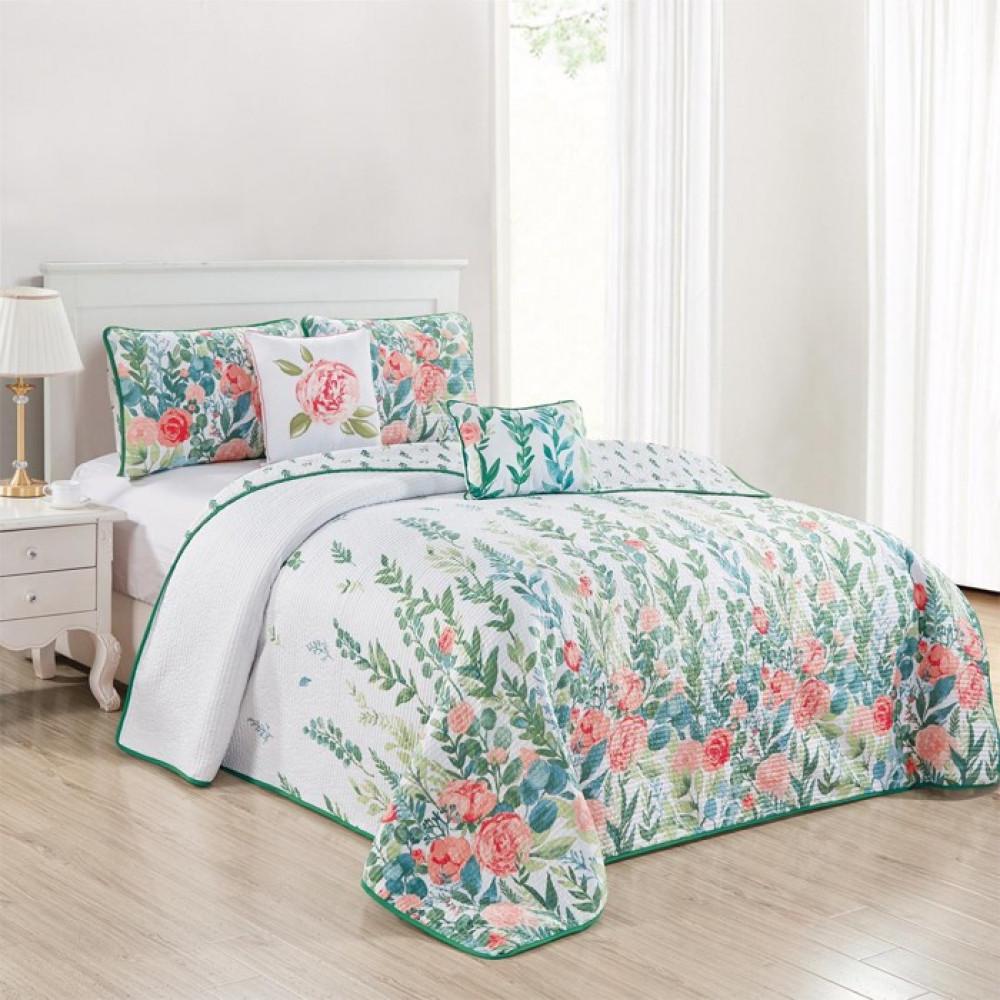 غطاء سرير بتصميم الورود بتصميم حديث وألوان عصرية