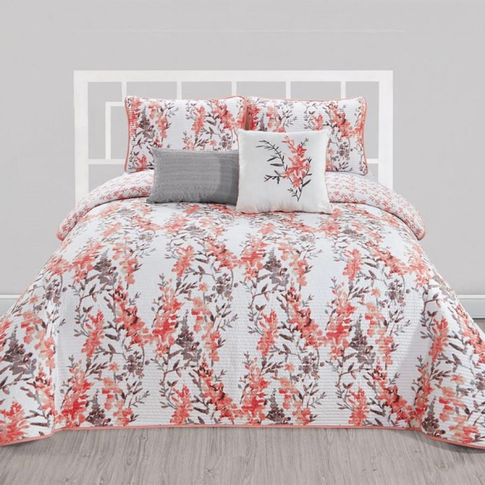 غطاء سرير لون مشجر بتصميم حديث وألوان عصرية