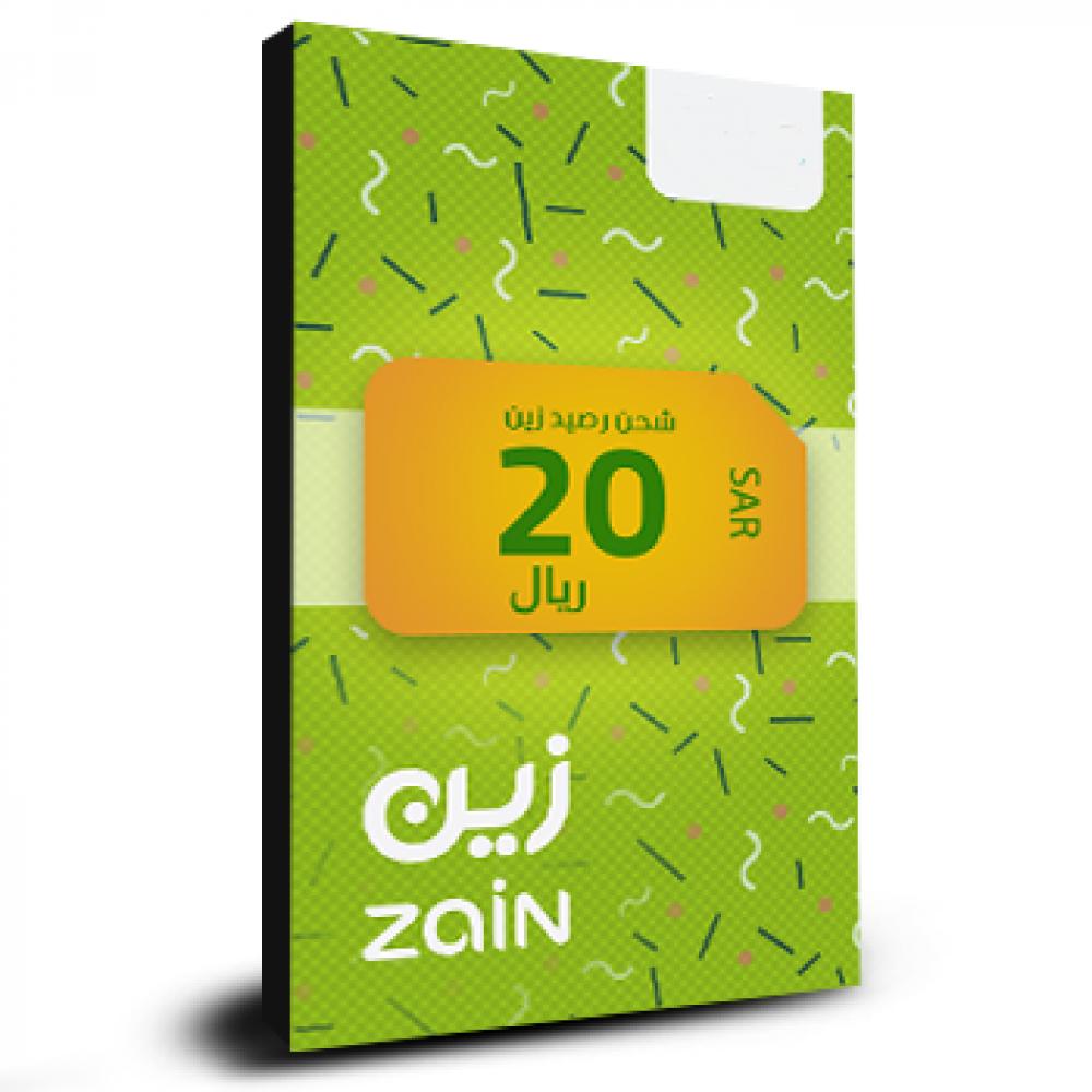 بطاقة شحن مكالمات زين 20 ريال Zain الهاتف اللؤلؤي