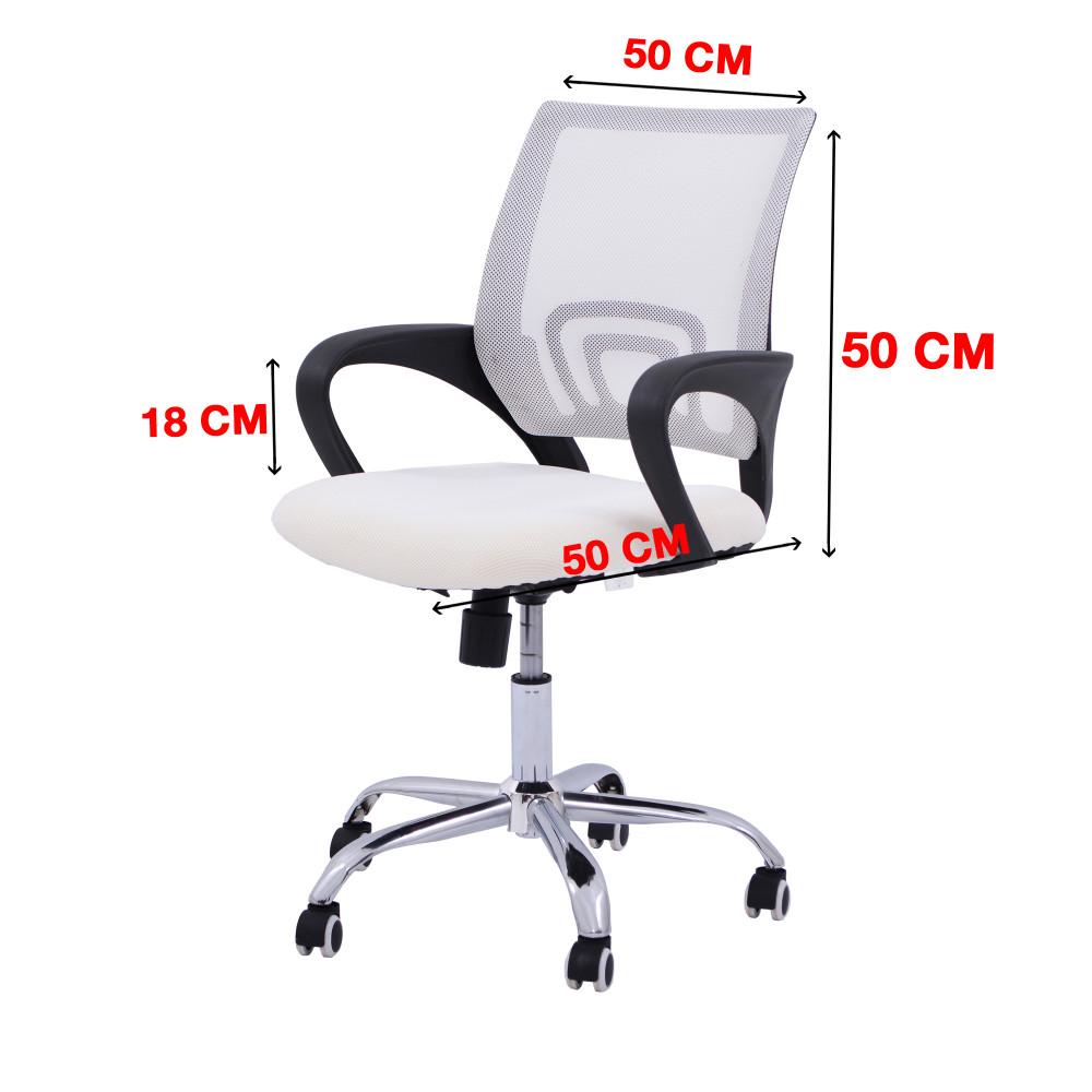 كرسي مكتبي ظهر شبك ابيض YA-60WHITE
