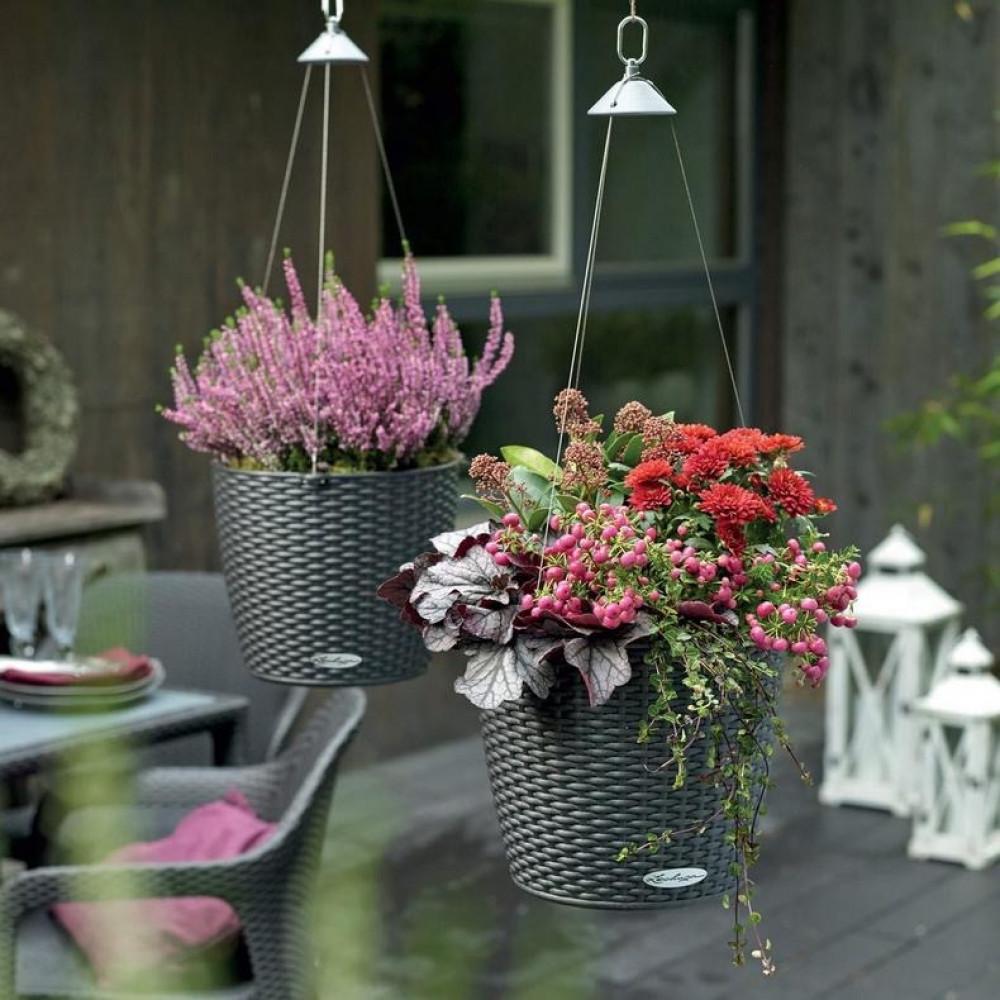 حوض نبات علاقي ذاتي الري Lechuza Nido Cottage