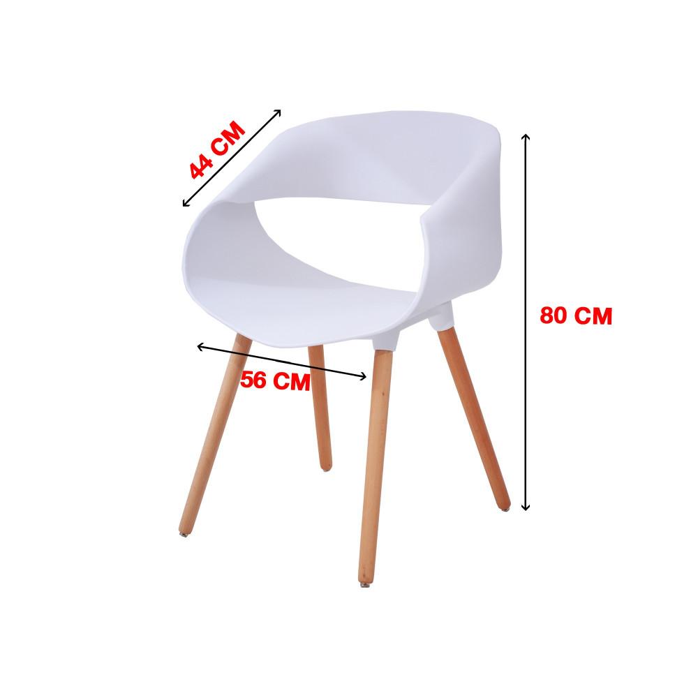 كرسي كاما فيبر ابيض ارجل خشب  C-D-831WHITE
