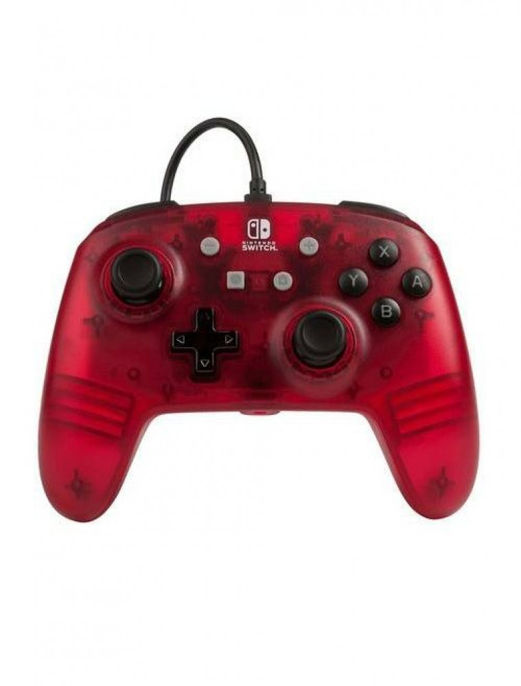 Enhanced Wired Controller For Nintendo Switch  Red Frost