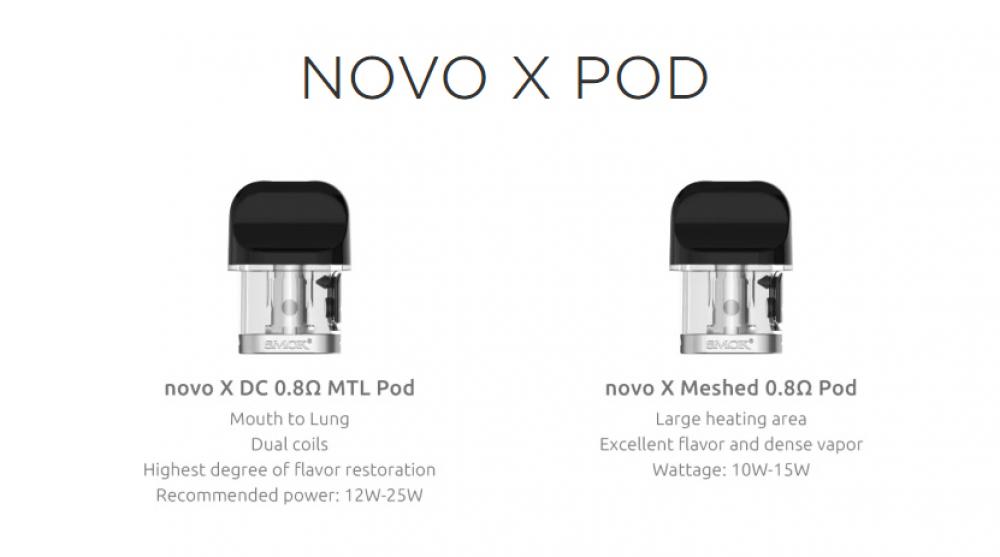بودات سحبة نوفو اكس  SMOK Novo X Cartridge 2ml 3PCSPack