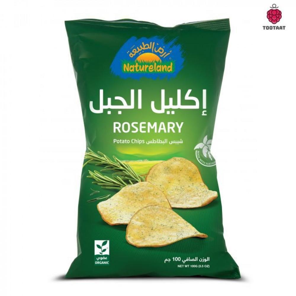 شيبس البطاطس-إكليل الجبل Natureland Rosemary Chips 100g Tootaat