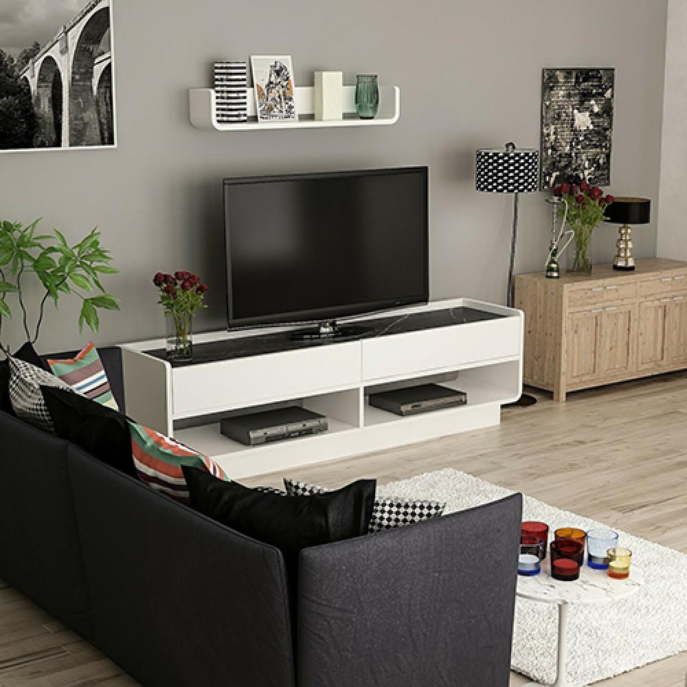صورطاولة تلفزيون خشب موديل لايز طاولات التلفاز مودرن
