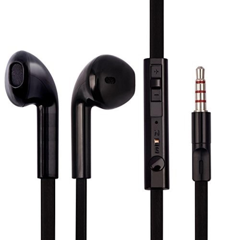 سماعة أذن ستريو رياضية مع ميكروفون للهواتف الذكية من BYZ اسود