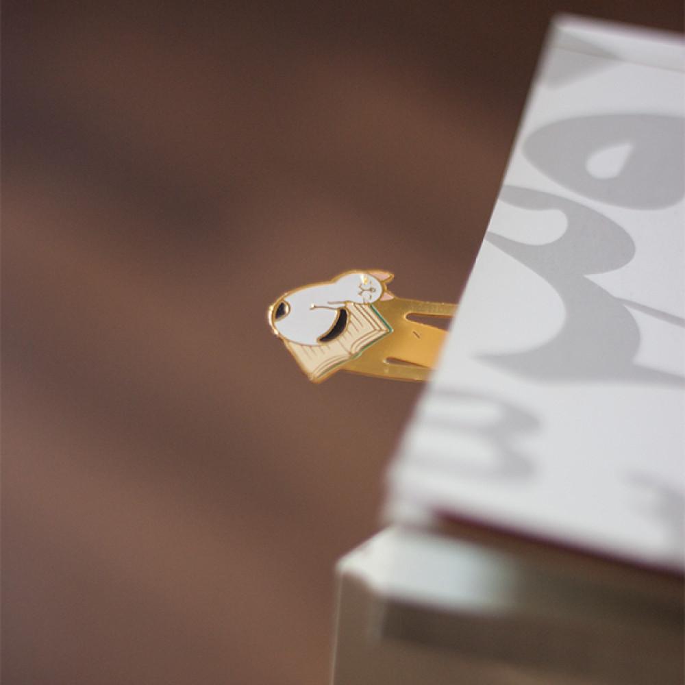 فواصل كتب معدنية بأشكال القطط اكسسورات وقرطاسية مميزة انيقة