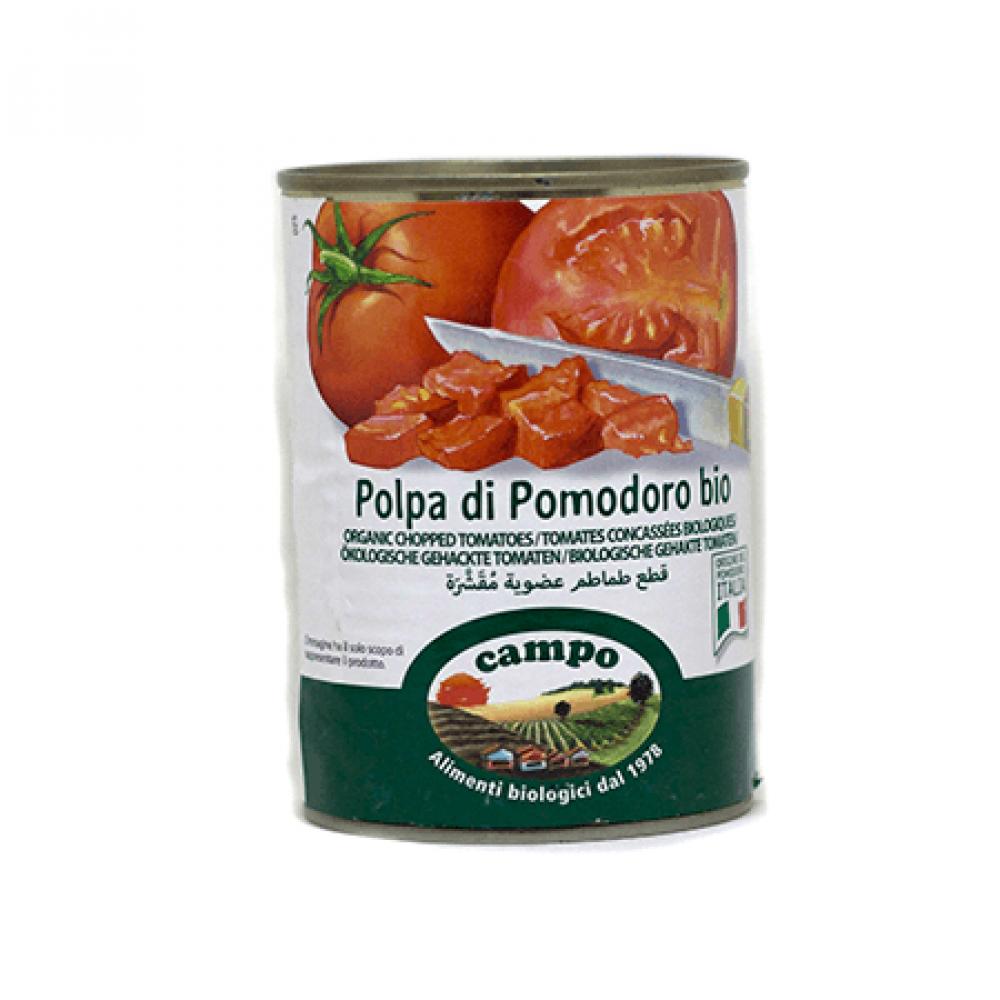 قطع الطماطم المقشرة العضوية