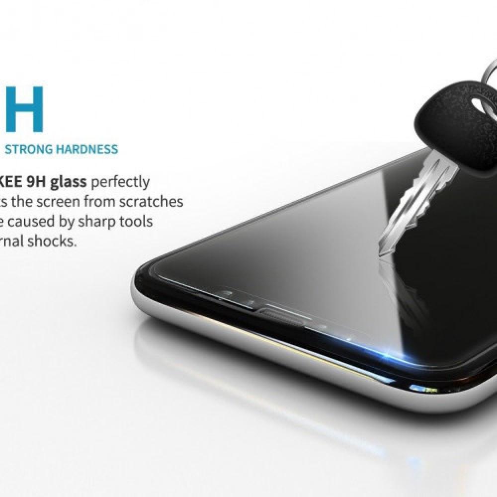 استكر حماية قزاز كامل الشاشة 3D لآيفون 8و7 بلس لون ابيض من جوبوكي