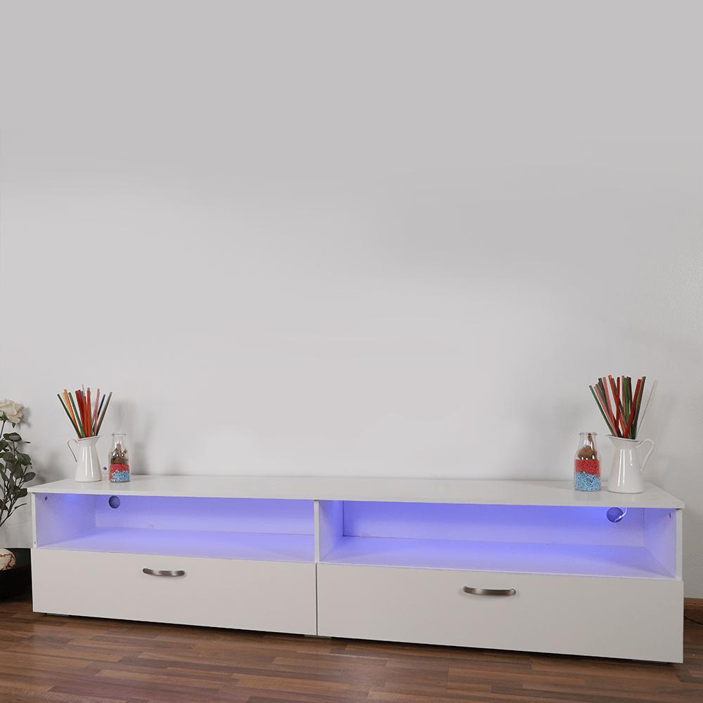 أفضل طاولة تلفاز بتصميم بسيط باللون الأبيض من مواسم للأثاث المنزلي